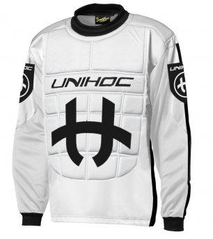 Unihoc Shield JR. White/Black brankářský dres