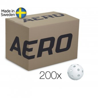 Salming Aero Ball White - box 200 míčků
