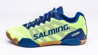 Salming Hawk FluoGreen-LimogesBlue