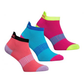 Salming Performance Ankle Sock 3-pack Coral/Mixed