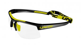 Unihoc Energy Kids Eyewear Black-Neon Yellow