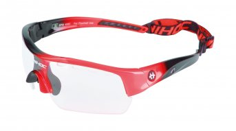 Unihoc Victory Junior Eyewear Black-Neon Red