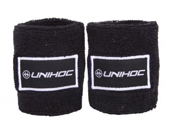 Unihoc Terry 2-pack Black Wristband