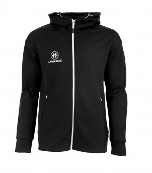 Unihoc Hood Zip Technic Black JR