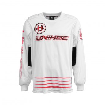 Unihoc Inferno White-Red Junior brankářský dres